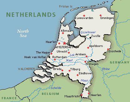 Netherlands Map Google map of Netherlands  Places Visited