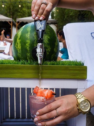 Watermelon dishes, desserts and drinks