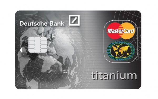 Deutsche Bank Design for the Titanium Credit Card of