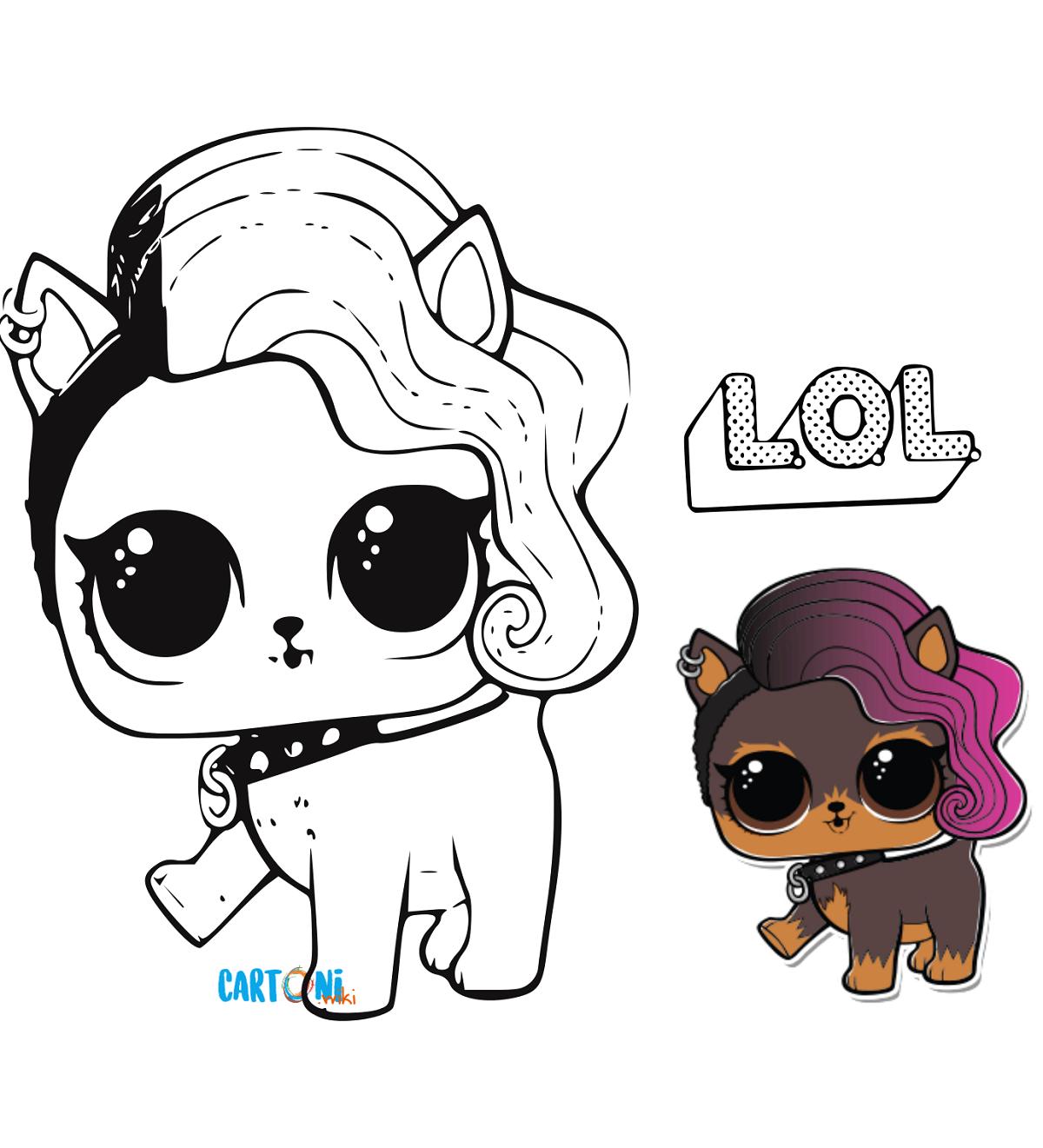 Cartoni animati... Colora le Lol Surprise Pets: disegno di