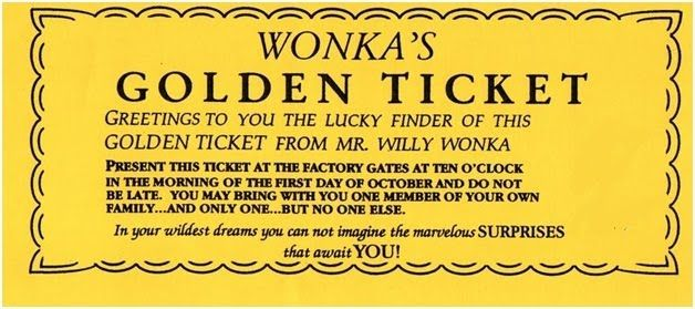 photo regarding Golden Ticket Printable named Wonka Golden Ticket Template  Occasion Designs inside of