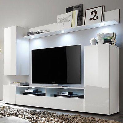 Ebay Angebot Wohnwand 1 Dos Anbauwand Wohnkombi Wohnzimmer In Weiss