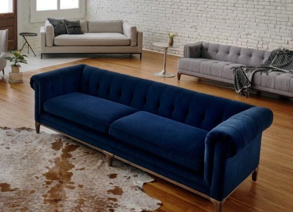 Plush Low Back Chesterfield Sofa Sofa Plush Sofa Home Decor