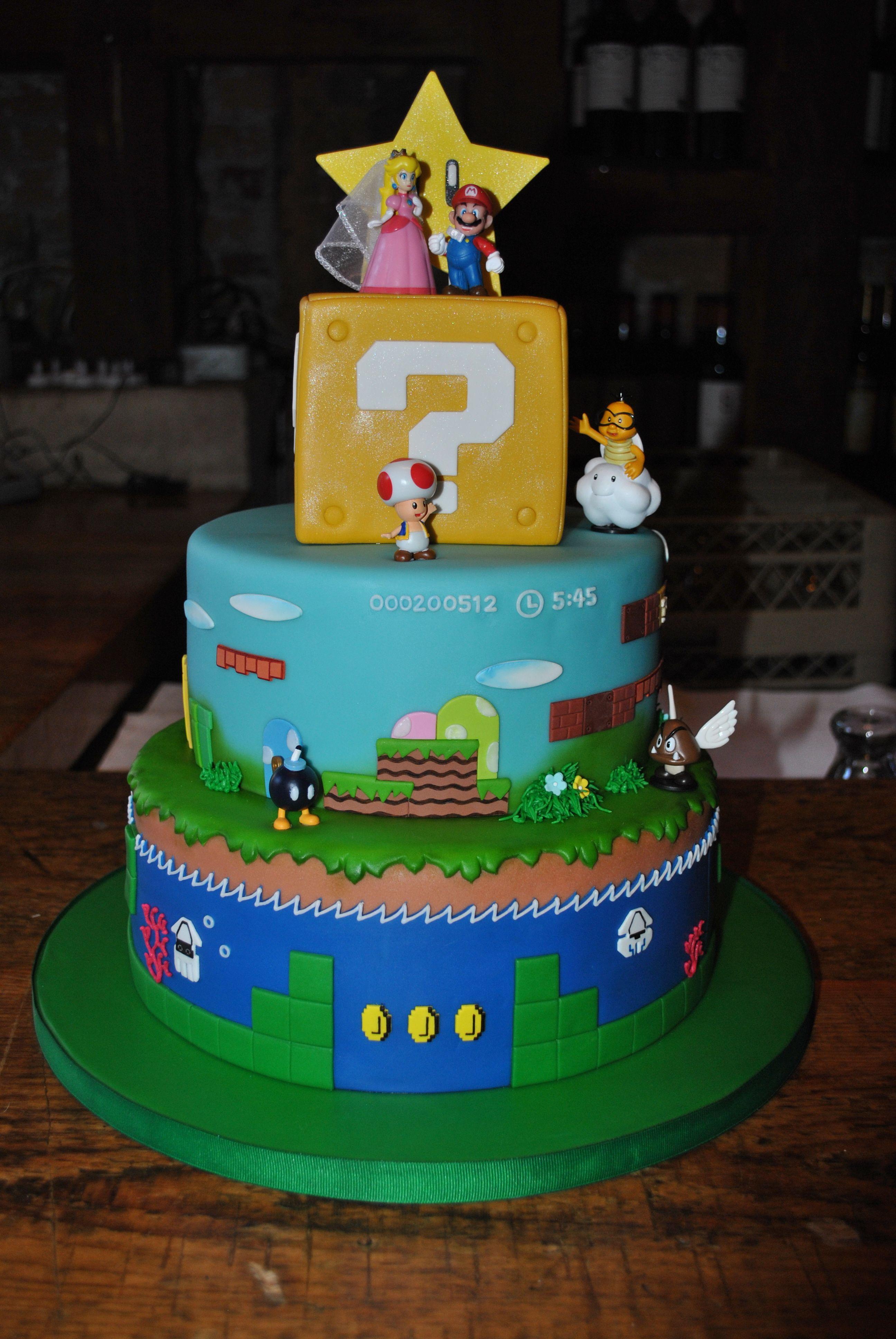 Super Mario Wedding Cake My Lil 39 Cakery Pinterest Mario And Weddin