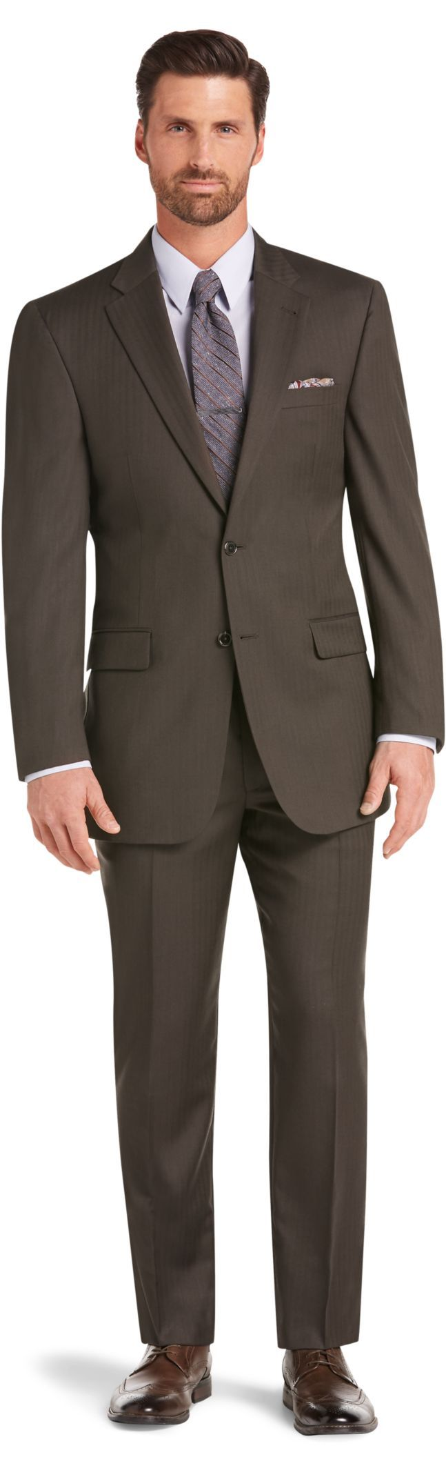 087c45cd126 Signature Collection Tailored Fit Herringbone Suit CLEARANCE ...