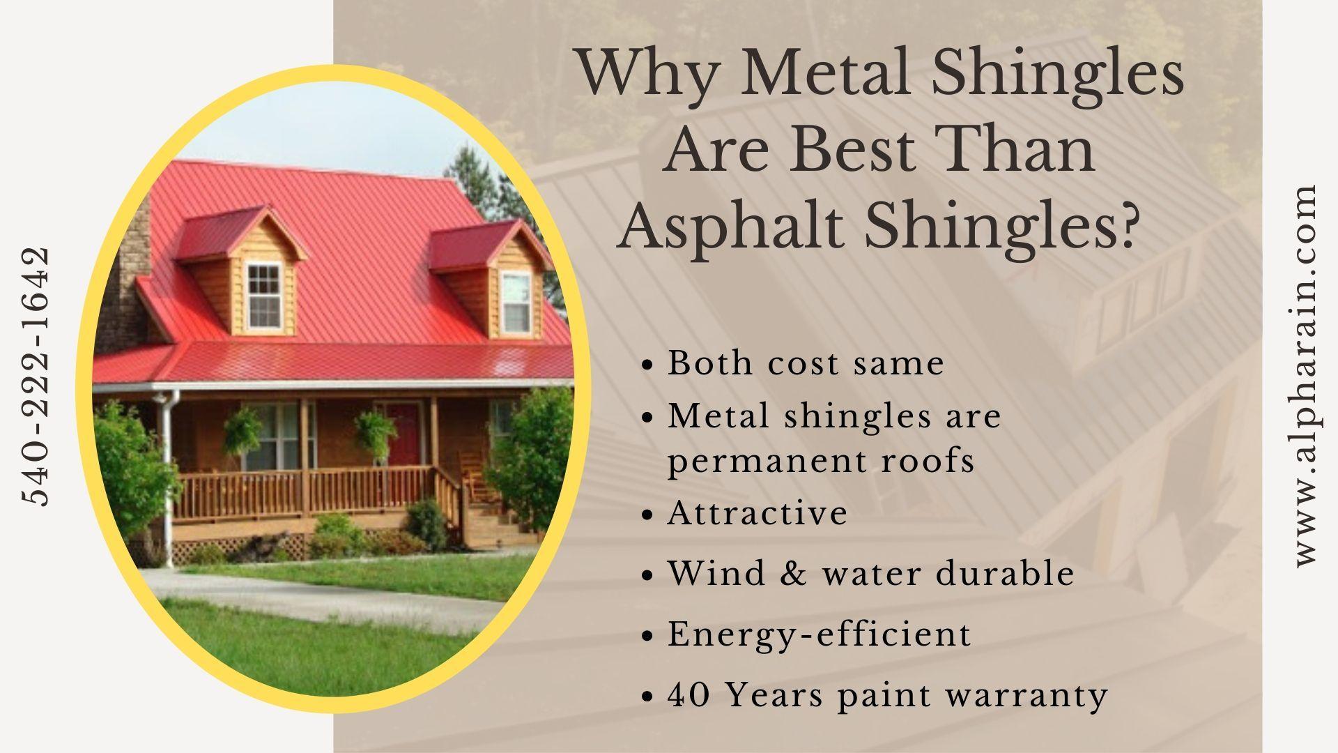 Confused Between Metal Roof Shingles Asphalt Shingles In 2020 Metal Shingles Metal Shingle Roof Shingling