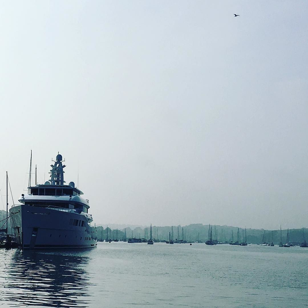 Beautiful Falmouth harbour#boats #superyacht by rascalcatcornwall