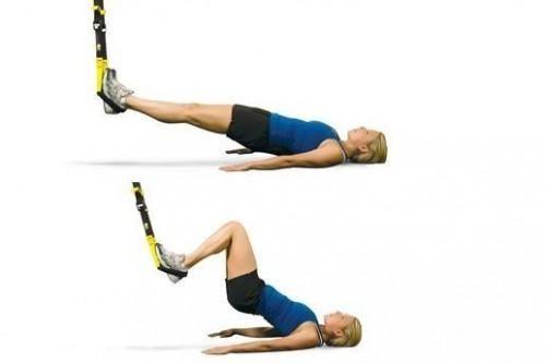 TRX-Fortalecer los músculos isquiotibiales, glúteos y espalda baja ...