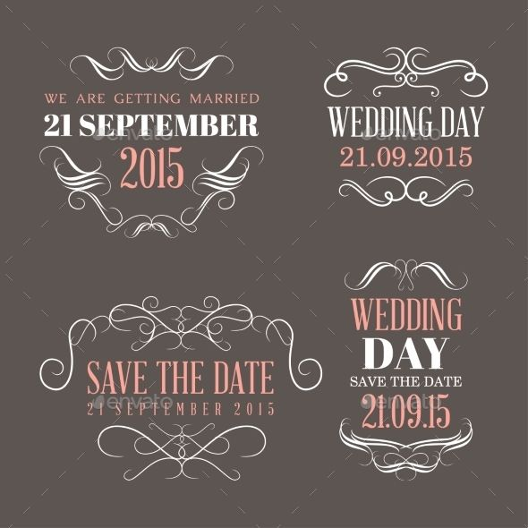Wedding Labels Wedding labels, Design elements and Font logo - wedding labels template