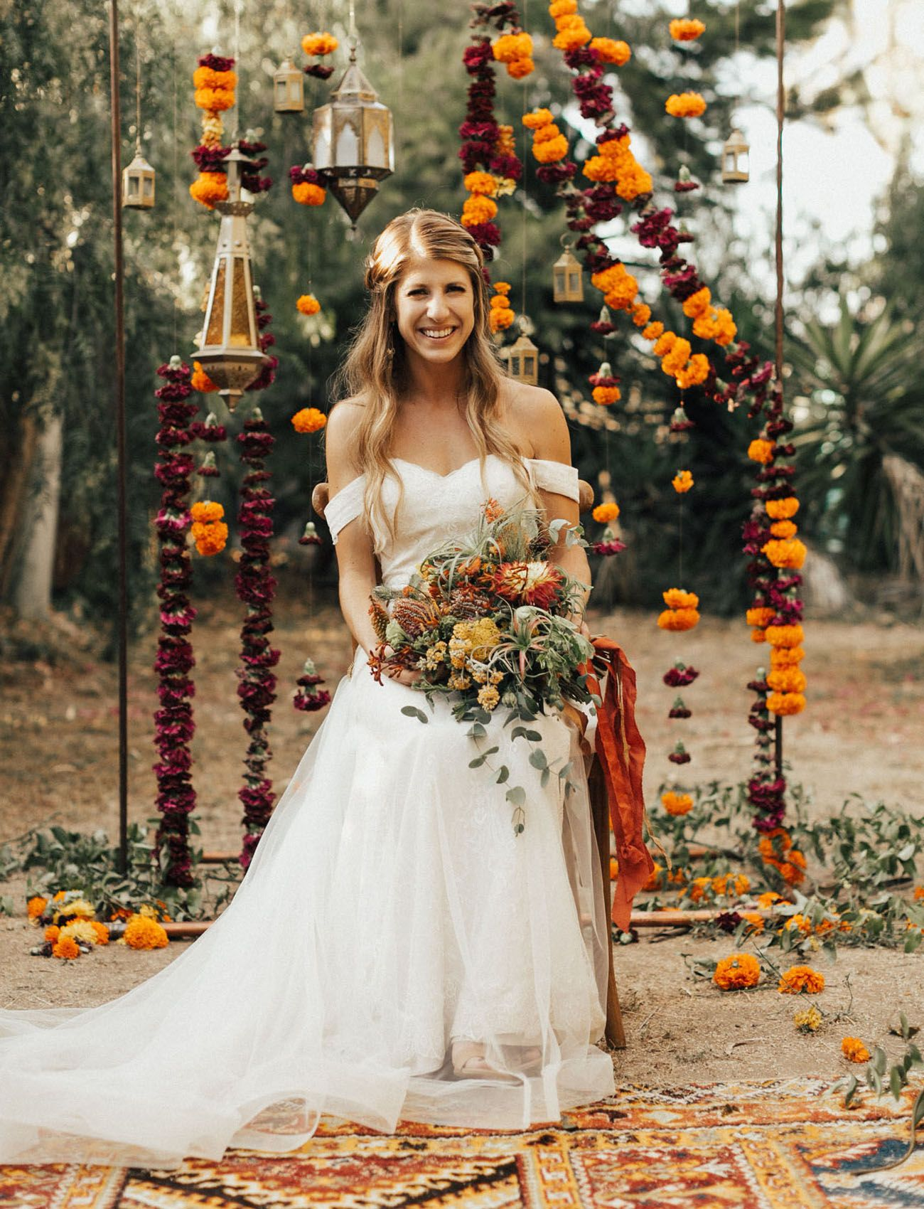 Majestic Burning Man Meets India Inspired Wedding Marigold