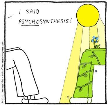 """Aujourd'hui, j'aimerais essayer quelque chose de différent… Ça s'appelle la """"psychosynthèse"""" J'ai dit PSYCHOsynthèse !"""