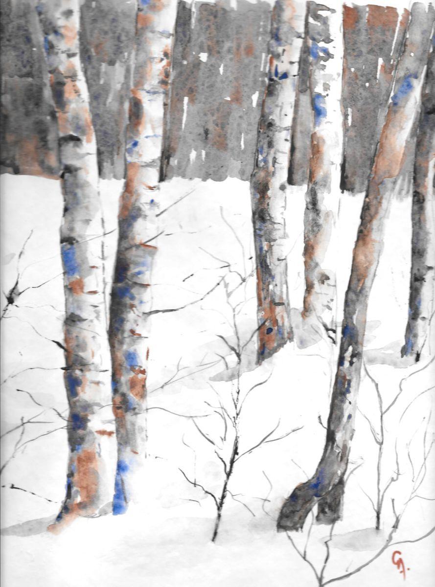 Epingle Par Jaap Tanis Sur Aquarel Peinture Paysage D Hiver