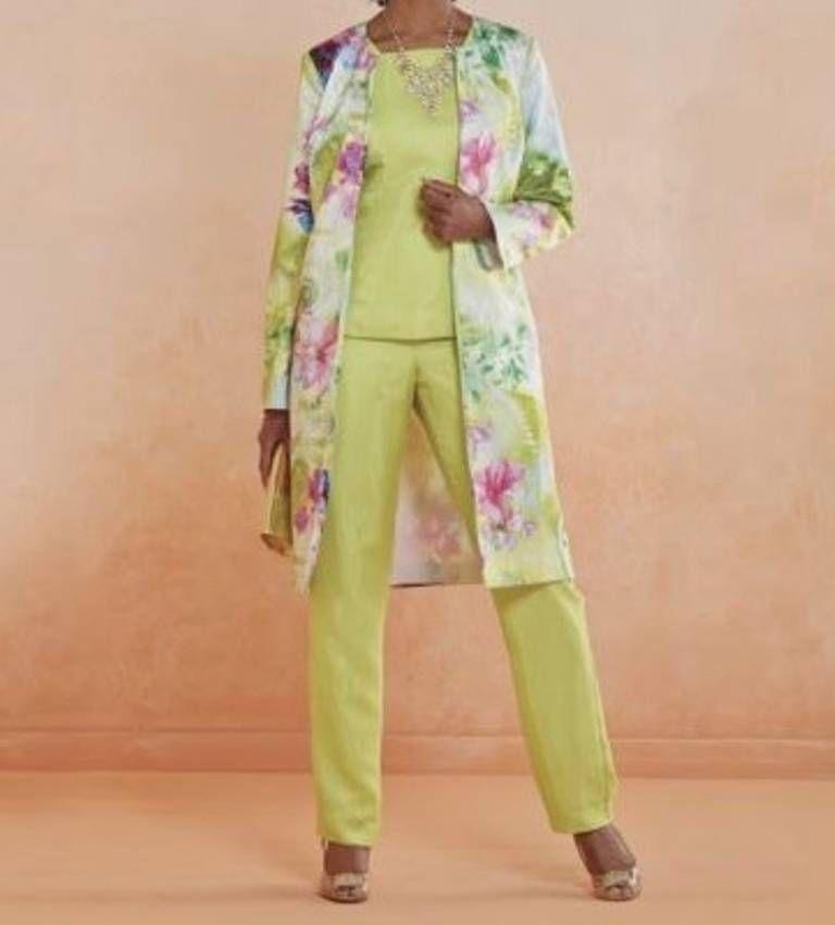 Women\'s Wedding evening party Church dress duster 3P pant suit ...