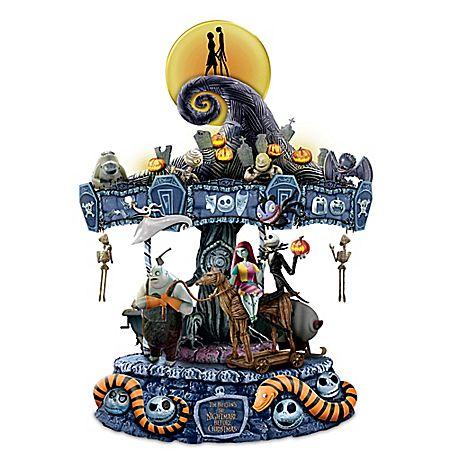 The Nightmare Before Christmas Carousel Carousel - tim burton halloween decorations