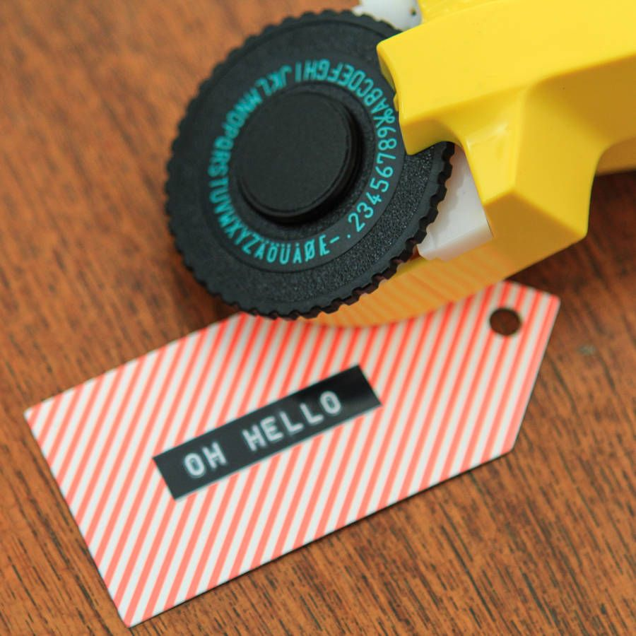 Retro Embossing Label Maker | For My Home | Colored tape