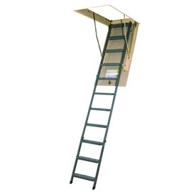 Louisville Everest 10 Ft To 12 Ft Type Ia Aluminum Attic Ladder Ftal22 Attic Access Ladder Attic Ladder Attic Renovation