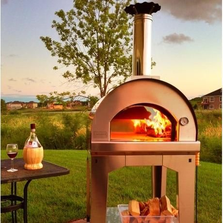 Fontana Forni Forno Toscano Margherita 31 Inch Wood Fired Pizza Oven On Cart Black Available At Bbq Guys If You Need A Quick And