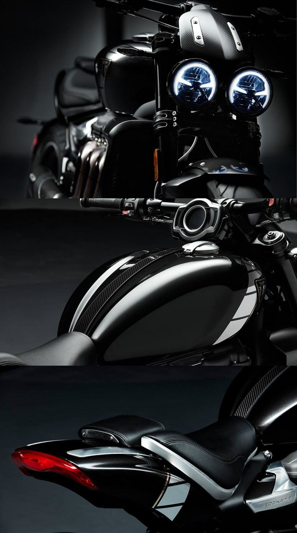 Triumph Factory Customs Thruxton R Tfc And Rocket Iii Tfc Debuted