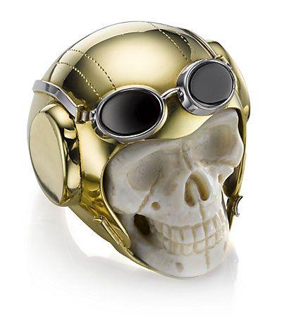 Lost Flyer Skull Ring
