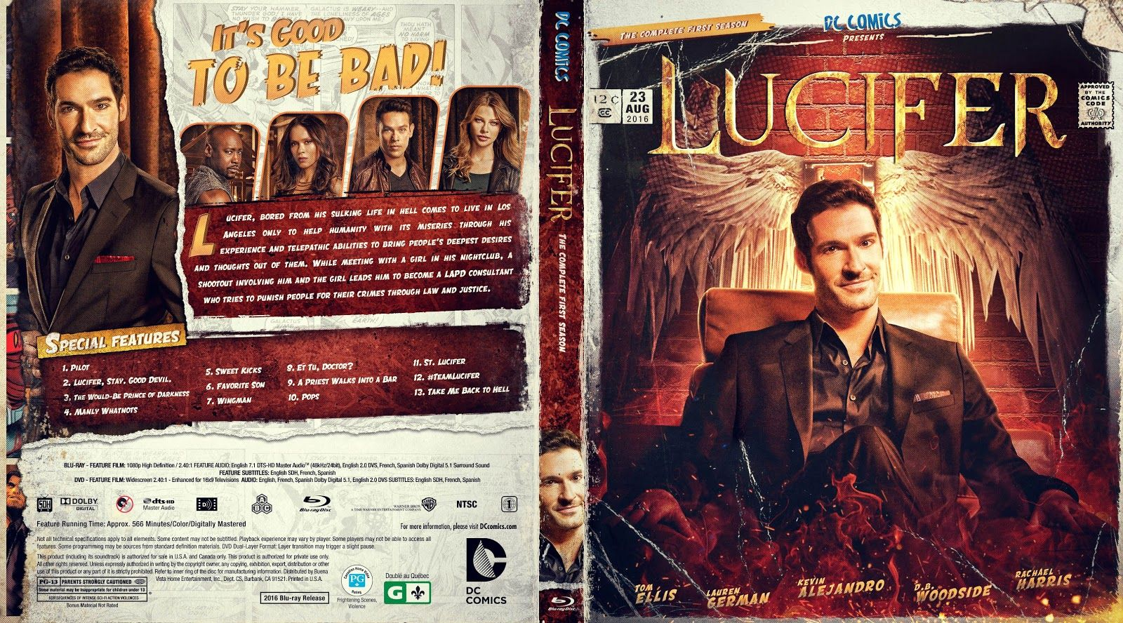 Lucifer Season 1 Bluray Cover With Images Lucifer