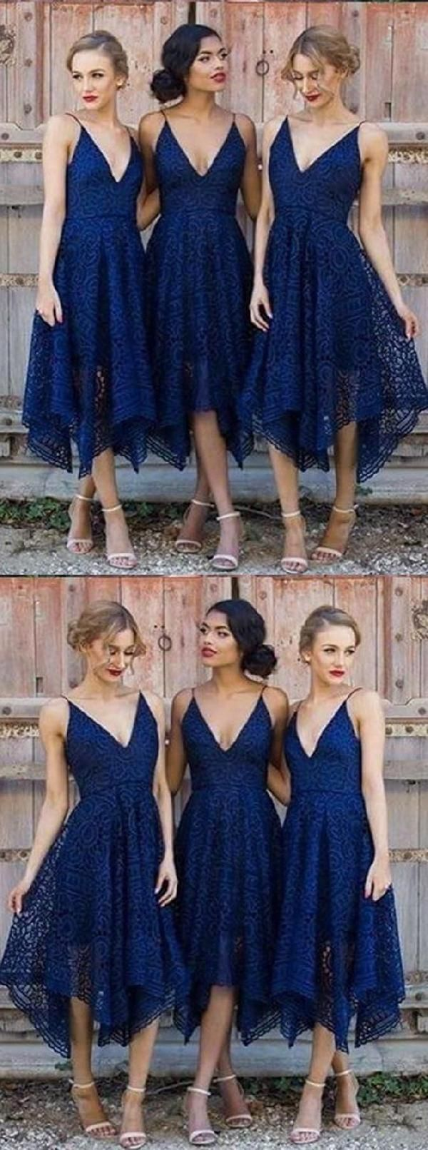 Customized nice vneck homecoming dresses blue homecoming dresses