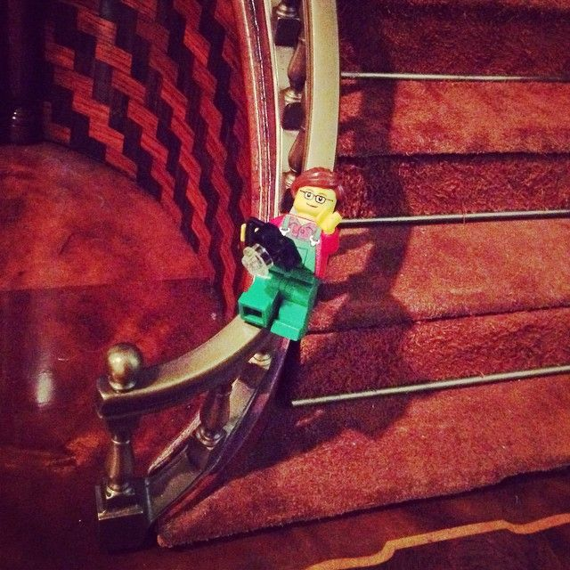 Resolution #13: Do something unexpected--like slide down a bannister! Play. Laugh. Smile. Love. #resolutions #unexpected #slidedownthebannister #newyear #lego #legogirl #legogirlography #legogirlsResolutions #instagramkc #photooftheday