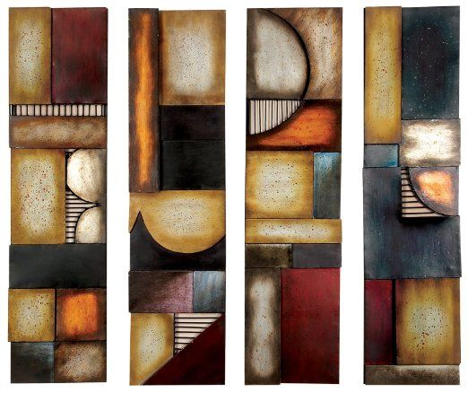 """Amazon.com - Wrought Iron Metal Wall Sculpture Art Set of 4 Art 31"""" x 8"""" *** LIMITED TIME OFFER *** - Wrought Iron Wall Decor"""