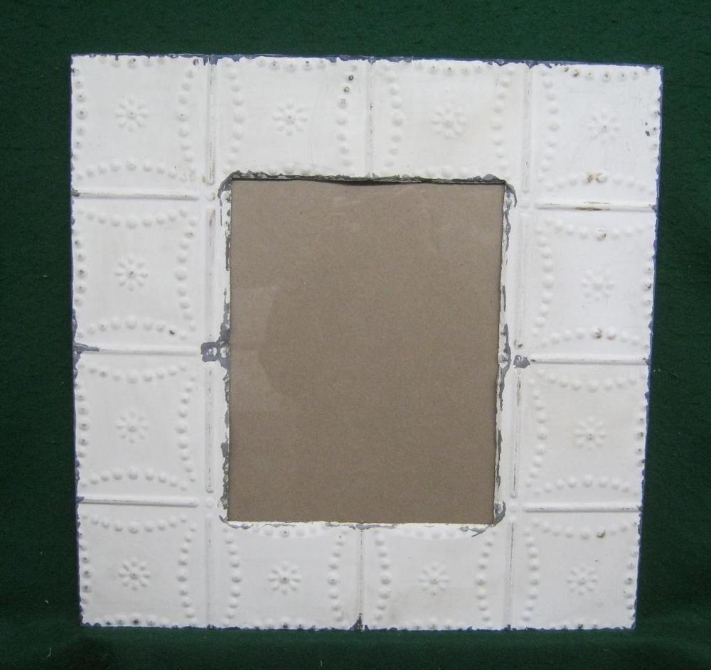 Antique Tin Ceiling Metal 11 X 14 White Picture Frame Recycled 2783 14 White Picture Frames Tin Ceiling Picture Frames