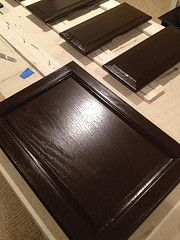 The new cabinet color using Rustoleum Cabinet ...