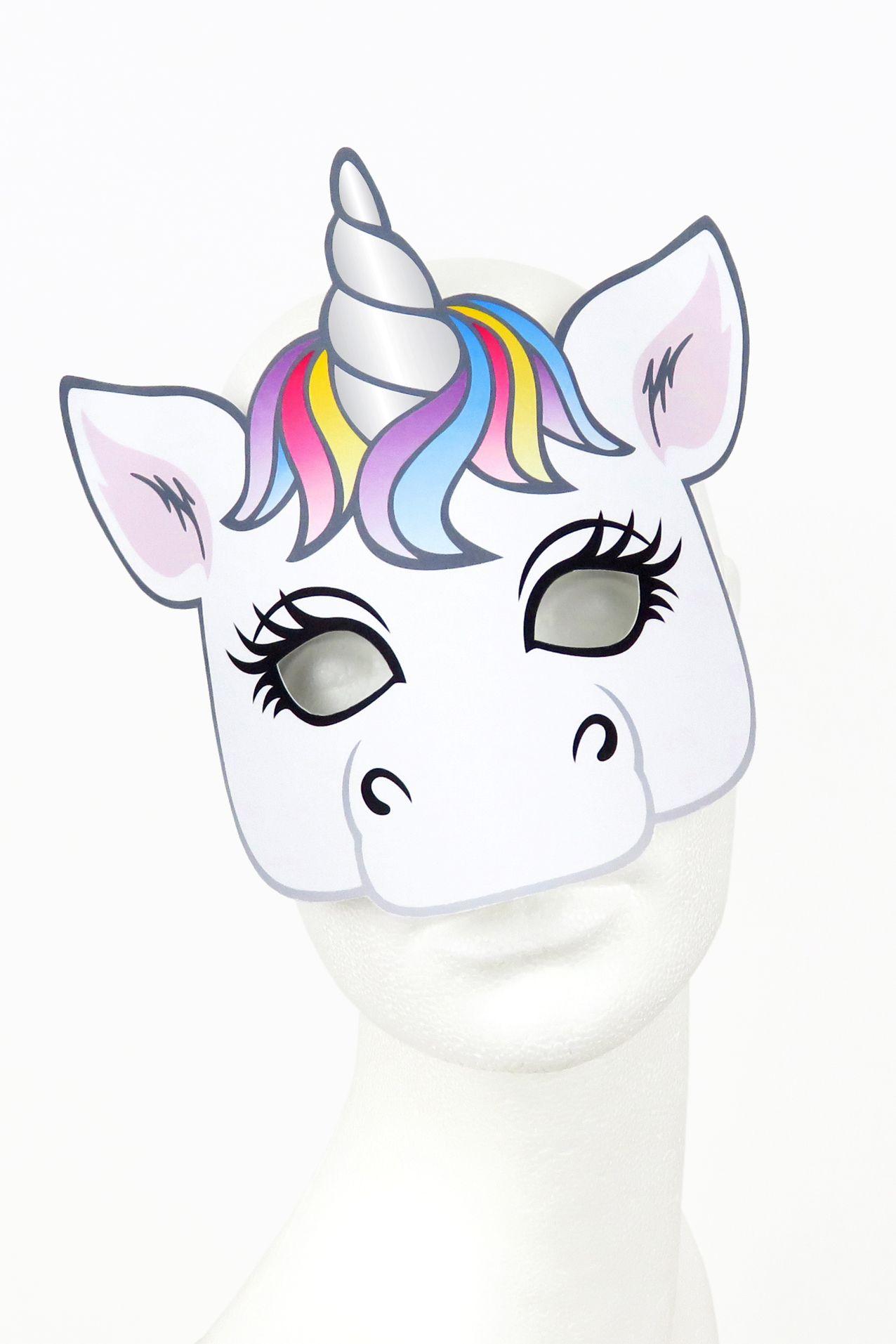 Maske Einhorn Zum Ausdrucken