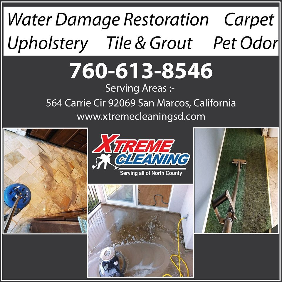 Xtreme Cleaning is a top-quality professional carpet cleaner. We use super-powered steam cleaners that operate directly from our trucks.  Call Us: 760 613 8546  Locations we serve: San Marcos CA Poway CA  #carpetcleaning #upholsterycleaning #tilegroutcleaning #arearugcleaning #petodorremoval #bestcarpetcleaning #greencleaning #commercialcleaning #naturalstonecleaning