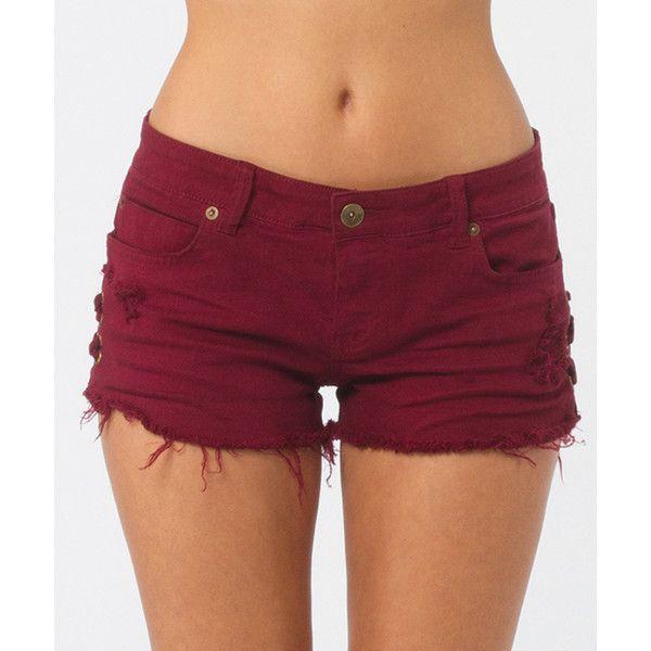 Billabong Women's Lite Hearted Side Tie Denim Shorts ($25 ...