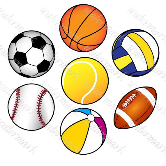 Ball Clipart Sport Clipart Digital Sport Ot Squirrelartdesign Clip Art Sports Kids Meals