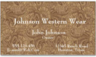 Light brown leather print business card western business cards business cards colourmoves