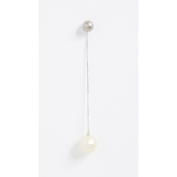 Marc Jacobs Single Pearl Drop Earring 75 Liked On Polyvore Featuring Jewelry