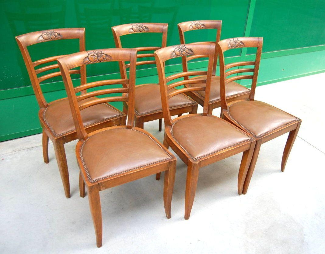 Sedie Deco ~ Modernariato sedie deco in faggio con schienale scolpito con