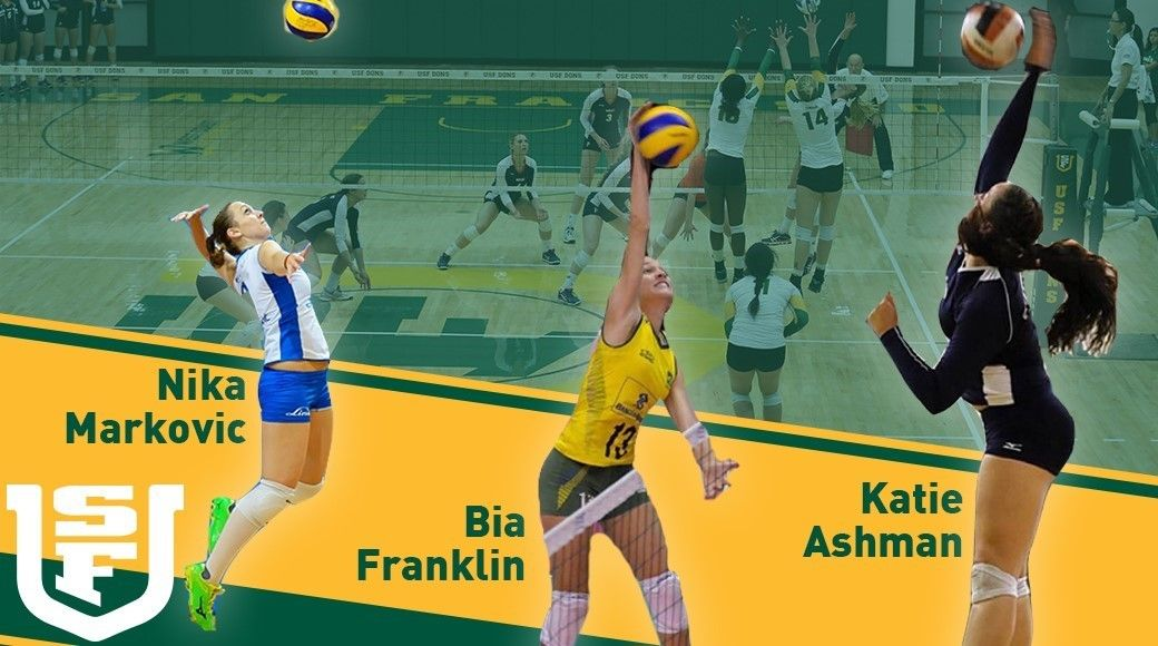 NLI - volleyball-USF Signs Three to Letters of Intent Volleyball - letters of intent
