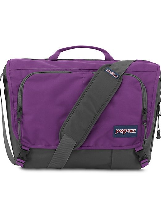 9187a9f3cbaf The new JanSport Network Messenger Bag in Vivid Purple features a dedicated  laptop sleeve and external access tablet pocket