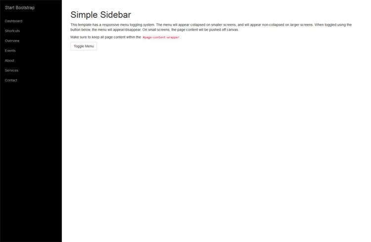 a simple sidebar template for bootstrap 3 featuring responsive off
