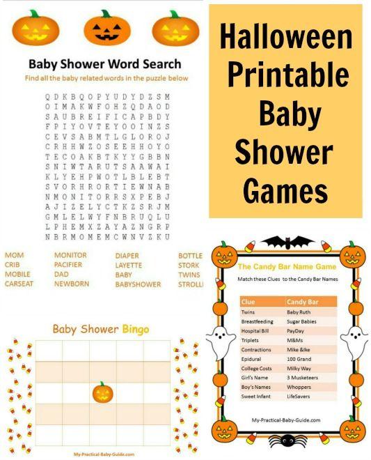 Halloween Themed Baby Shower Games.Halloween Printable Baby Shower Games Baby Shower Ideas Baby