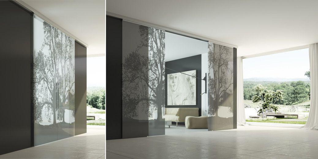 Glass: la porta scorrevole in vetro. Porte scorrevoli con ante ...