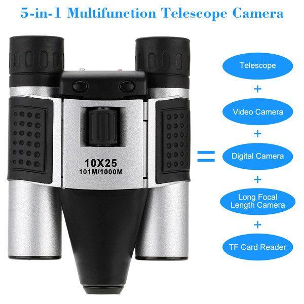 1.3MP 10X25mm Digital Telescope CCTV Camera Support SD Card Recording USB Video Output