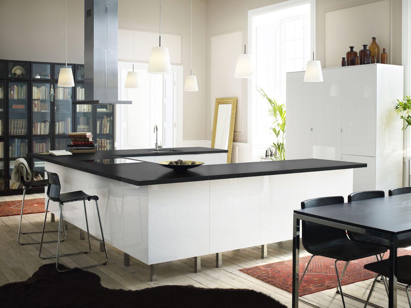 IKEA Österreich, Inspiration, Küche, Front ABSTRAKT, Esstisch TORSBY ...