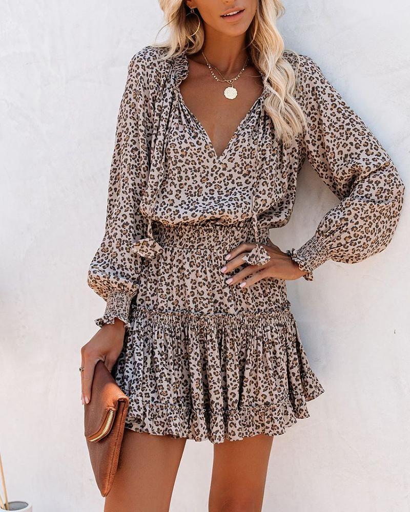 13++ Cheetah long sleeve dress trends