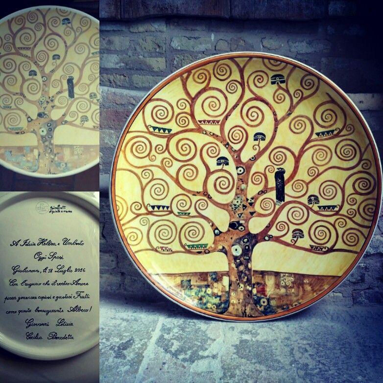 446691b75b L'albero della vita, ispirazione da Gustav Klimt. Regalo personalizzato per  matrimonio. The tree of life, inspired by Gustav Klimt.