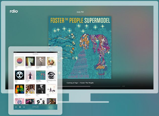 Rdio and Crackle can now send music and free videos to