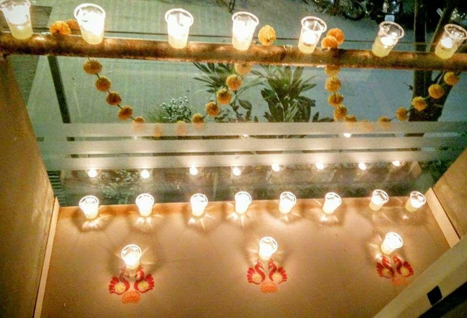 Karthigai deepam decor   Diwali decorations, Festival ...