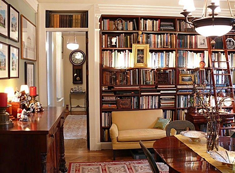 Traditional Decor New York Apartment Style Decorating Book Shelves Library Home Eclectic