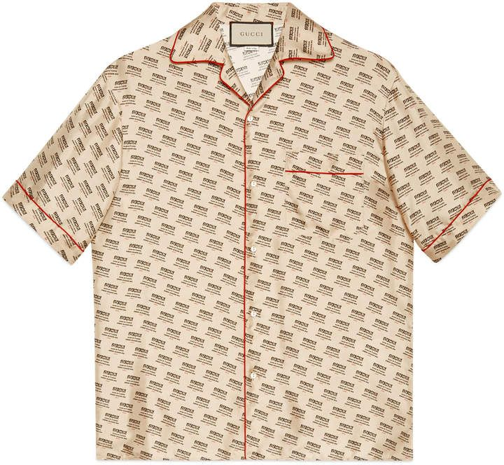 857ff2c9ee7 Gucci invite stamp bowling shirt