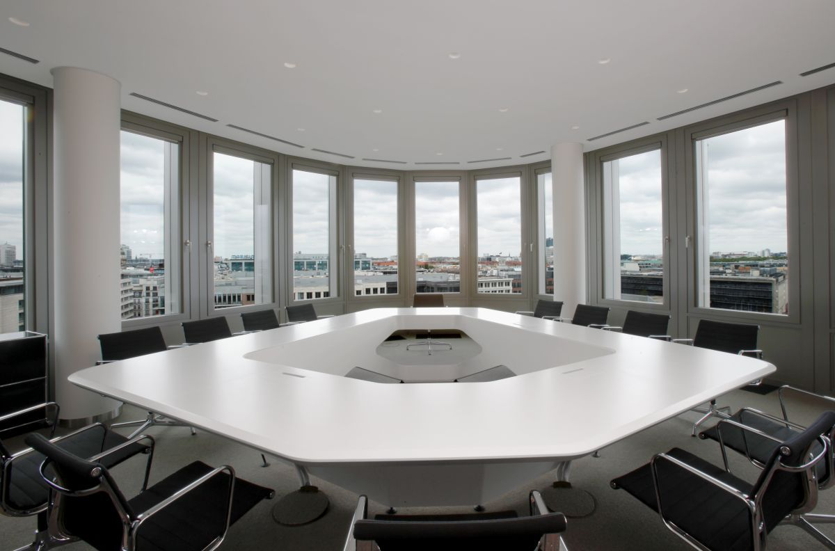 White marble meeting table combined with - Various Awesome Conference Table Design Elegant Hexagon Shape White Modern Conference Table Design As Same
